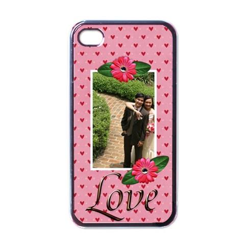 Iphone 4 Case   Love By Jennyl   Apple Iphone 4 Case (black)   Wmt54l09omlc   Www Artscow Com Front
