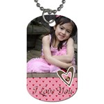 Dog Tag - I Love You - Dog Tag (One Side)