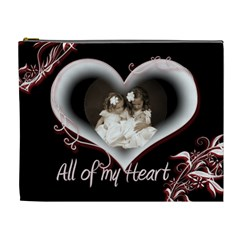 All Of My Heart Extra Large Cosmetic Bag By Catvinnat   Cosmetic Bag (xl)   I664g6v9skyy   Www Artscow Com Front
