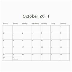 Larson Family 2011 Calendar  By Cindy Larson   Wall Calendar 11  X 8 5  (12 Months)   Haatqc70bq4w   Www Artscow Com Oct 2011
