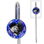 blue lights with snowflakes book mark