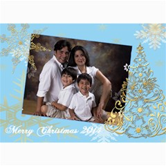 Gold Xmas Tree Xmas Greeting Cards By Ivelyn   5  X 7  Photo Cards   4son5x4gf615   Www Artscow Com 7 x5 Photo Card - 4