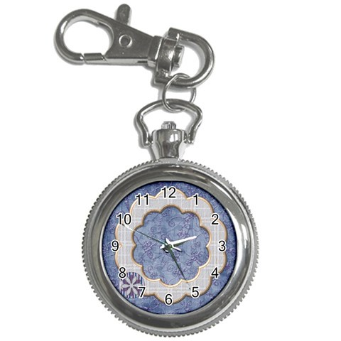 Lavender Rain Keychain Watch 1 By Lisa Minor   Key Chain Watch   8alaerl2aqjf   Www Artscow Com Front