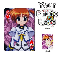 Nanoha Dek By Linysia   Playing Cards 54 Designs   Ydqqdoykqi6z   Www Artscow Com Front - Heart6