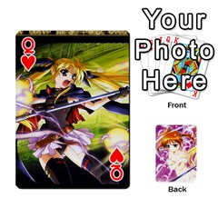 Queen Nanoha Dek By Linysia   Playing Cards 54 Designs   Ydqqdoykqi6z   Www Artscow Com Front - HeartQ