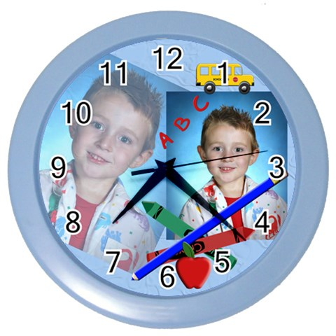 School Clock By Chere s Creations   Color Wall Clock   Ize3j47gzqwh   Www Artscow Com Front