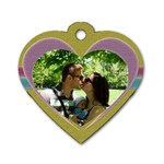 Love dog tag - Dog Tag Heart (One Side)