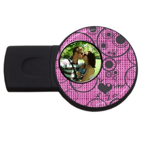 Love   Usb 4 Gb By Daniela   Usb Flash Drive Round (4 Gb)   Hfzzkicbext5   Www Artscow Com Front