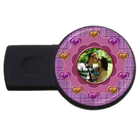 Heart U   Usb 4 Gb By Daniela   Usb Flash Drive Round (4 Gb)   Gsrwfe90jv8n   Www Artscow Com Front