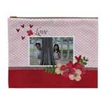 XL Cosmetic Bag- Love is in the Air - Cosmetic Bag (XL)