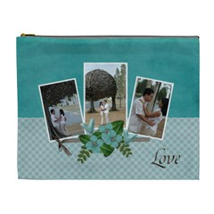 Xl Cosmetic Case  Together In Love By Jennyl   Cosmetic Bag (xl)   Z13msec57rti   Www Artscow Com Front