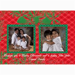 Red & Green Xmas Cards By Ivelyn   5  X 7  Photo Cards   V3aa7qpnvw2m   Www Artscow Com 7 x5 Photo Card - 1