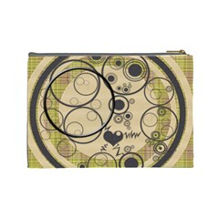 Heart Bubbles Large Cosmetic Bag By Daniela   Cosmetic Bag (large)   Vmcb10v79qyu   Www Artscow Com Back