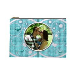 Love Bubbles Large Cosmetic Bag By Daniela   Cosmetic Bag (large)   Eg89y7gqz2e6   Www Artscow Com Front