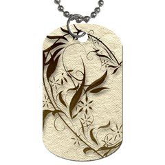 All Of My Heart Mocha And Silk Dog Tag Double Sided By Catvinnat   Dog Tag (two Sides)   Y5b6zdyfmidl   Www Artscow Com Back
