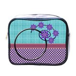 Flower swirl toiletries bag - Mini Toiletries Bag (One Side)