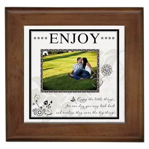 enjoy  Framed Tile By Lil    Framed Tile   Zyckci4jepo1   Www Artscow Com Front