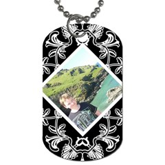 Art Nouveau Offset Diamond Dog Tag By Catvinnat   Dog Tag (two Sides)   G4cbfqha9j2q   Www Artscow Com Front