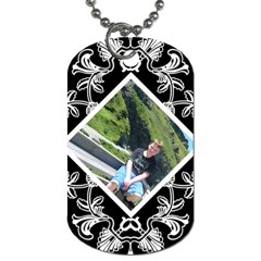 Art Nouveau Offset Diamond Dog Tag By Catvinnat   Dog Tag (two Sides)   G4cbfqha9j2q   Www Artscow Com Back