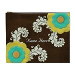 XL Cosmetic Case Big Flowers - Cosmetic Bag (XL)