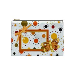 Tangerine Breeze Medium Cosmetic Bag 2 By Lisa Minor   Cosmetic Bag (medium)   Komiosyndu7n   Www Artscow Com Front