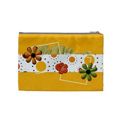 Tangerine Breeze Medium Cosmetic Bag 2 By Lisa Minor   Cosmetic Bag (medium)   Komiosyndu7n   Www Artscow Com Back