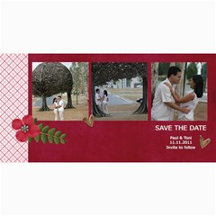 Save The Date  Love Is In The Air By Jennyl   4  X 8  Photo Cards   Nkpadzejvw4j   Www Artscow Com 8 x4 Photo Card - 3