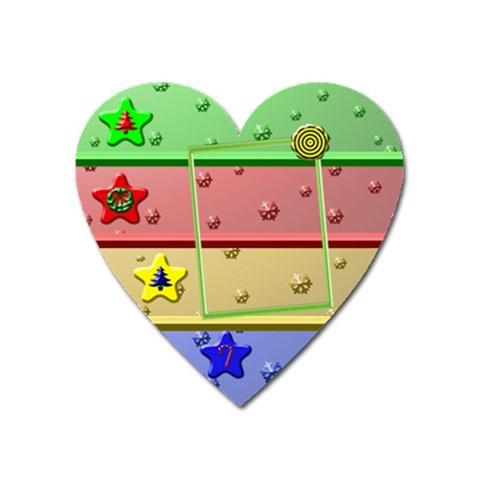 Christmas Baby Magnet By Daniela   Magnet (heart)   R4teuv0v7e38   Www Artscow Com Front