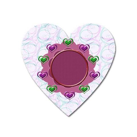 Heart U Magnet By Daniela   Magnet (heart)   Jmrusfw7cye0   Www Artscow Com Front