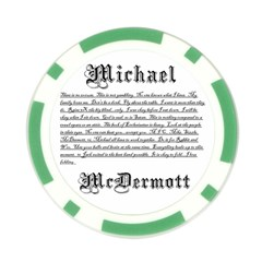Now By Michael Mcdermott   Poker Chip Card Guard   Avvgoeyybq3o   Www Artscow Com Front