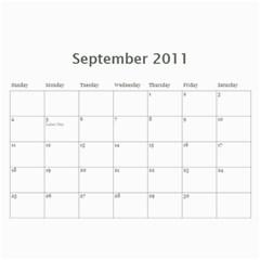 Kangs 2011 By Janica   Wall Calendar 11  X 8 5  (12 Months)   Auto7zdfx6tn   Www Artscow Com Sep 2011