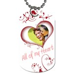 Valentine Red All of my Heart Double Side Dog Tag - Dog Tag (Two Sides)