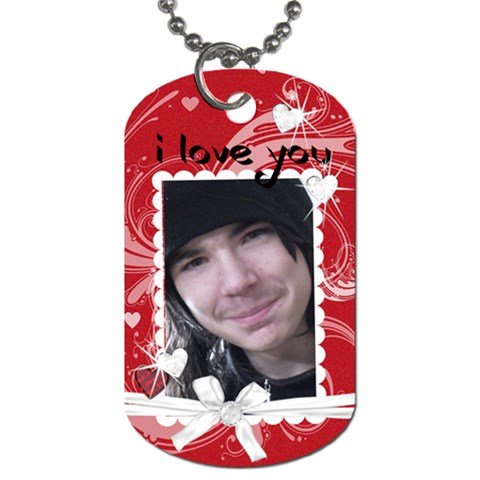 I Love You Gift Dog Tag By Laurrie   Dog Tag (one Side)   Oon7g1ewbmhu   Www Artscow Com Front