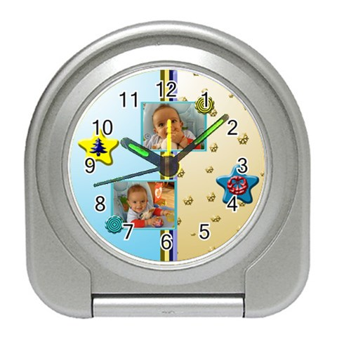 Christmas Baby Clock By Daniela   Travel Alarm Clock   Js2ypsyb536r   Www Artscow Com Front