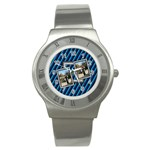 Blue sports watch - Stainless Steel Watch