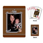 Brown Stitched Playing Cards - Playing Cards Single Design