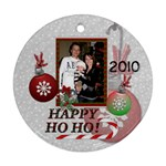 Happy Ho Ho Memories Round Ornament - Ornament (Round)