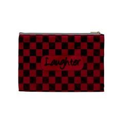 Fuschia Ruckus Medium Cosmetic Bag 1 By Lisa Minor   Cosmetic Bag (medium)   Bzjndphdlec3   Www Artscow Com Back