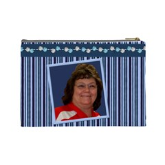 Lg Cos Bag Navy Plaid For Pat Dec 2010 By Lyn Clarke   Cosmetic Bag (large)   Mjflq1i23gdb   Www Artscow Com Back