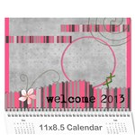 calendar 12 mos. / happy new year - Wall Calendar 11  x 8.5  (12-Months)
