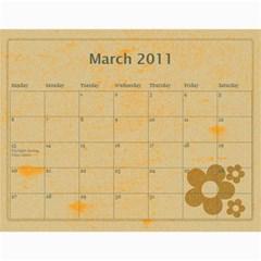 2011 By Sheri$ Pullen   Wall Calendar 11  X 8 5  (12 Months)   Pois43s4gvvf   Www Artscow Com Mar 2011