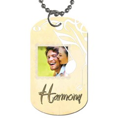 Harmony Dog Tag By Catvinnat   Dog Tag (two Sides)   G5t3532tcpzj   Www Artscow Com Front