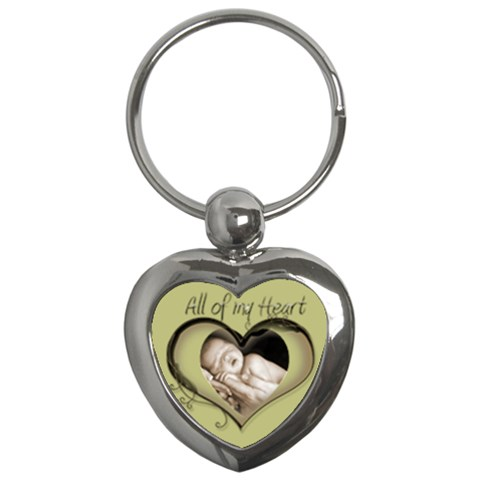 All Of My Heart Keyring By Catvinnat   Key Chain (heart)   Zrp0c71vlih5   Www Artscow Com Front