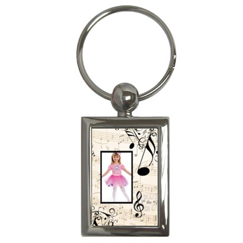 Must Be The Music Rectangle Keyring By Catvinnat   Key Chain (rectangle)   Qzxb7ikv05r6   Www Artscow Com Front