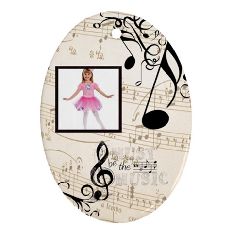 Must Be The Music Oval Ornament By Catvinnat   Ornament (oval)   Gz4n4mywngdg   Www Artscow Com Front