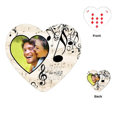 Must Be The Music Heart Playing Cards By Catvinnat   Playing Cards (heart)   Gjnqrwd9vtxi   Www Artscow Com Front