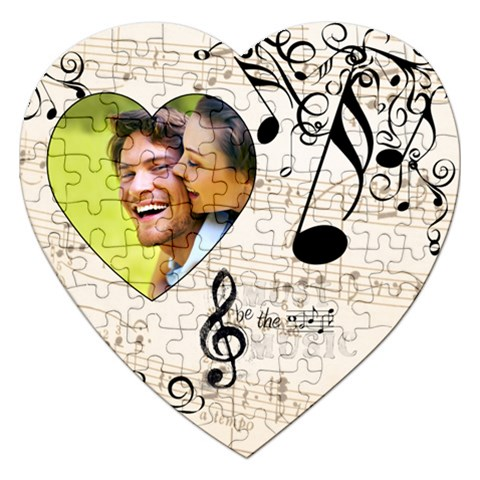 Must Be The Music Heart Puzzle By Catvinnat   Jigsaw Puzzle (heart)   6dtfqsyinaan   Www Artscow Com Front