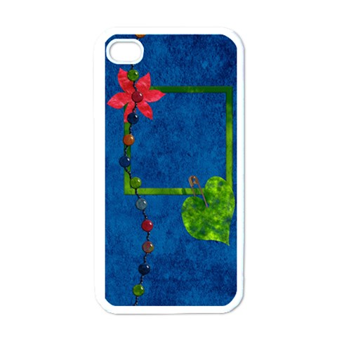 Tye Dyed Iphone Case 1 By Lisa Minor   Apple Iphone 4 Case (white)   Kngxii56hh2r   Www Artscow Com Front