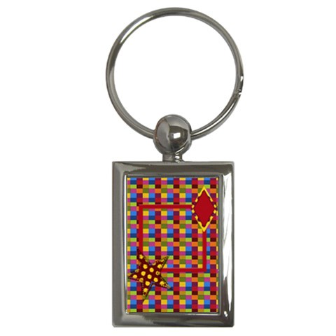 Abc Jump Keychain 1 By Lisa Minor   Key Chain (rectangle)   Zjb0xxbu0ufq   Www Artscow Com Front