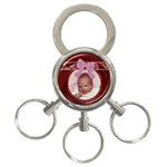 Pink Bow 3-Ring Key Chain